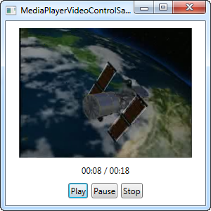 Showing a simple video using the MediaElement with controls