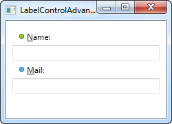 Label controls using access keys