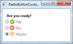 Radio buttons with custom content