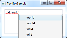 A TextBox control with automatic spell checking enabled