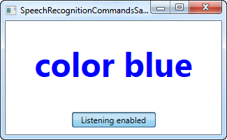 Speech recognition (making WPF listen) - The complete WPF