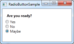 The RadioButton control - The complete WPF tutorial