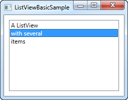 A simple ListView example - The complete WPF tutorial