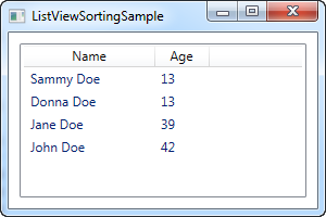 ListView sorting - The complete WPF tutorial