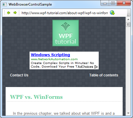 The WebBrowser control - The complete WPF tutorial