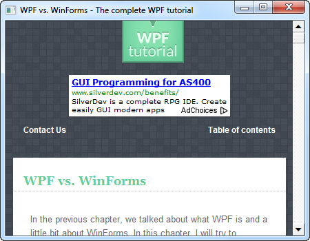 The WindowsFormsHost control - The complete WPF tutorial