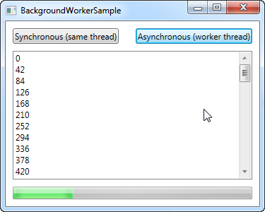 Multi-threading with the BackgroundWorker - The complete WPF