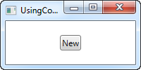 An interface using a WPF command