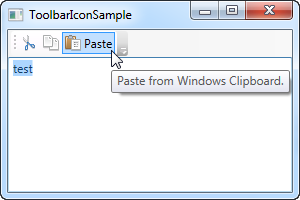 A WPF ToolBar with icons