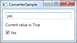 Using an IValueConverter, here with a value that converts to true