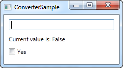 Using an IValueConverter, here with an empty value
