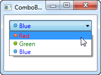 A ComboBox control with custom content