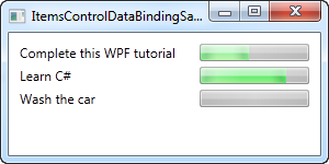 An ItemsControl using data binding