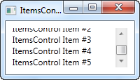 An ItemsControl without scrollbars