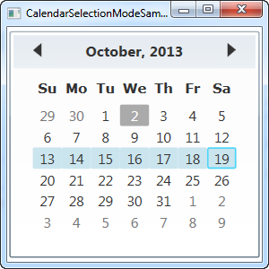 The Calendar control - The complete WPF tutorial
