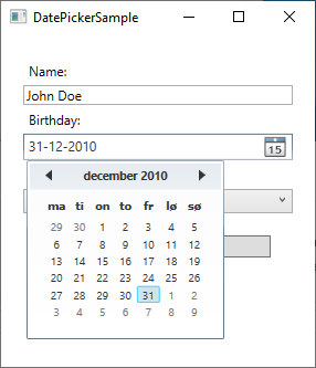 The DatePicker control - The complete WPF tutorial