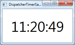 A clock using the DispatcherTimer for updates