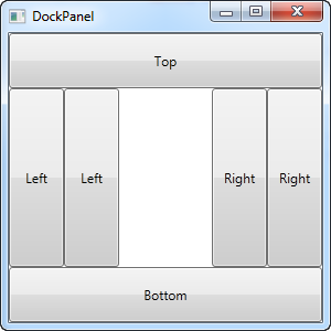 A DockPanel where the LastChildFill property has been disabled