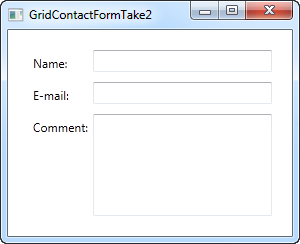 A simple contact form using the Grid - take two