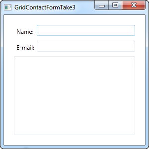 A simple contact form using the Grid - take three