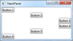 A StackPanel in Horizontal mode with differently aligned controls
