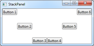 A StackPanel in Vertical mode with differently aligned controls