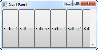 A simple StackPanel in Horizontal mode