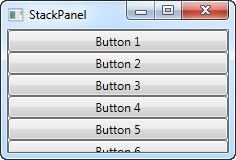 A simple StackPanel in Vertical mode