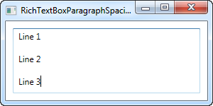 A RichTextBox showing the extended space between paragraphs