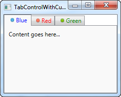 A TabControl with customized headers