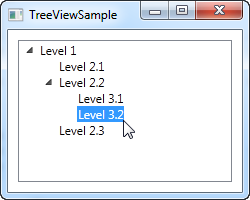 A simple TreeView control with items defined in the markup