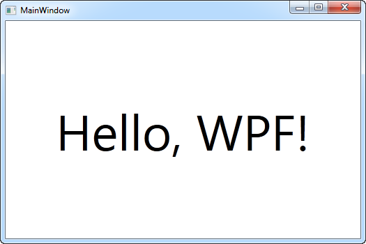 Hello, WPF! - the result